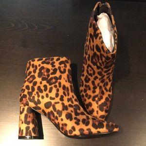 BRAND NEW Leopard Print Booties